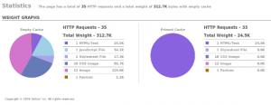 Yslow-Statistiken nach der Aktivierung der Speedster Extension
